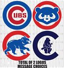 2 CHICAGO CUBS Cornhole Decals LARGE Bean Bag Toss Sticker Baggo on Ebay