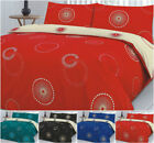 Luxury EDEN Spotted Printed PolyCotton Reversible DUVET Cover Set + Pillowcases
