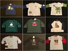 NWT Gymboree Boys LS Shirts Size 0-3 M & 6-12 M MONTH ONLY Selection!