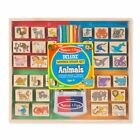 Melissa and Doug Deluxe Animal Wooden Stamp Set