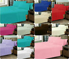 Luxury Plain Dyed 50/50 PolyCotton FITTED BED Sheet~PERCALE Quality Bedding Set