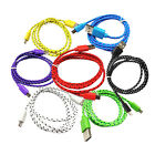 1-3M Data Sync Charger Cable Micro USB Braided Cord For Galaxy Android Phone