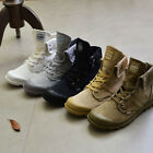 New Men Army Tactical Comfort Ankle Boots Casual Canvas Lace-up shoes