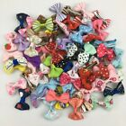 Dog Bows Clips Hair Grooming Dog Puppy Pet Cat Fashion Present Accesories UK