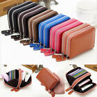 Mens Womens Mini Genuine Real Leather Wallet ID Credit Cards Holder Pocket Purse