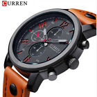 CURREN Men Watch Military Sports Fashion Wristwatch Montre Homme Leather Band image