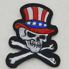 Flag Hat Cross skull Embroidered For Clothing Iron On Patch