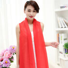 Women Lady Solid Color Chiffon Scarf Beach Long Shawl Stole Scarves Candy Color