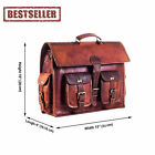 Genuine Leather Laptop,Mackbook Notebook IPad Messenge Bag, Briefcase For Unisex
