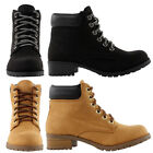 New Womens Ankle Work Boots Suede Lace Up Combat Army Booties Soda EQUITY-S