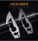 Multi-function key chain outdoor knife combination tool