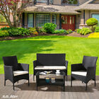 Garden Furniture Rattan 3 Chairs And Table Set Patio Conservatory Outdoor
