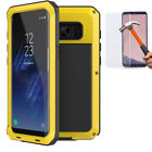 Samsung Galaxy S8 S9 Plus Shockproof Waterproof Metal Tempered Glass Case Cover