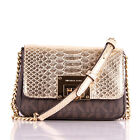 NWT Michael Kors TINA Leather/PVC Small Clutch Crossbody Bag in Various Colors