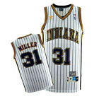 Reggie Miller 31 Indiana Pacers Mens White Hardwood Classics Throwback Jersey