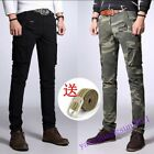 skinny combat trousers - Mens overalls Military Combat Pants Cotton Slim Skinny Cargo Trousers hot sz