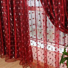 EP_ Fashion Tulle Panel Window Curtain for Living Room Embro