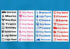 85 Printed Iron-On Name Labels Personalised School Quality Tape Tags for Clothes