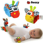 SOZZY 1 Pair Baby Rattles Animal Socks Wrist Strap Rattle Baby Foot Socks Toy