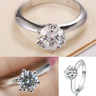 Sparkling Wholesale Fashion 925 Solid Sterling Silver Ring Women Beautiful Gift