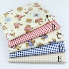 50cm*160CM Teddy bear  100%cotton fabric Quilting Quilt Clothes Bedding Sewing