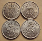 Uncirculated George VI Sixpences - choice of dates