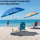 colored umbrellas - TOMMY Bahama 7' Beach Umbrella w/ Tilt MULTI-COLOR OR BLUE   FAST FREE SHIPPING!