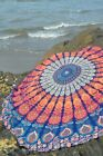 Bohemian Hippie Tapestry Outdoor Beach Round Blanket Mandala Throws Bedspread