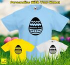 Personalised Easter Egg Kids T-Shirt Childrens Chocolate Custom Spring Gift Tee