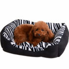 Cat Nest Mat Waterproof Pet Bed Zebra Cushion  Luxury Puppy Fabric Sofa I0610