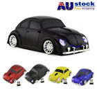 3D 2.4Ghz VW Beetle Car Wireless Mouse Optical Mice For Laptop PC +USB Dongle AU