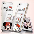 Mirror Cute Mickey Minnie Mouse Case Cover For iPhone XS XR 7 Plus Ring Holder