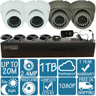 4CH CCTV DVR Record X4 2.4MP 1080P Camera Home Security Full System Kit 1TB HDD