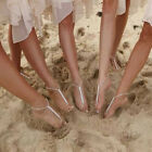 Wedding Crystal Bridal Barefoot Sandals Sexy Jewellery Shoes Thongs Anklet Beach