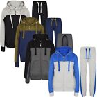 Boys Tracksuit New Kids Contrast Style Hooded Jogging Bottoms And Hoodie 4 CLRS