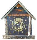 Rustic Time Large '3D Cabin' LED Lighted Clock *** Handmade *** Large Wall Clock