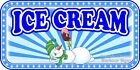 (CHOOSE YOUR SIZE) ICE CREAM DECAL Snowman Concession Food Truck Sticker