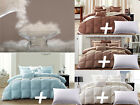Snowman Premium White Goose Down Comforter Size with One Goose Feather Pillow