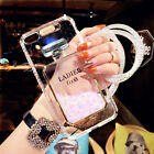 Perfume Bottle Calling Light Glitter Liquid Clear Phone Case Cover For iPhone