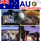 Outdoor Christmas Light Laser Projector Move Snowflake Snow Garden Party Lamp AU