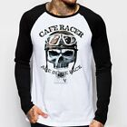 Cafe Racer Skull classic Motorcycle triumph enfield baseball t-shirt FN9160 €15.43 EUR on eBay