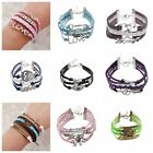 Buy 2 GET 1 FREE GIFT UNDER 10 DOLLARS FOR Woman Charm Bracelet Double Leather