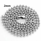 2-9mm Men Womens 316L Stainless Steel Silver Twist Curb Link Chain Necklace Gift