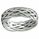 Braid Band Twisted Rope Ring 6.5 - 8 g 925 Solid Sterling Silver 7 mm BELDIAMO