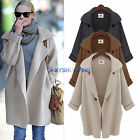 Womens Waterfall Coat Jacket Jumper Cardigan Baggy Chunky Knit Sweater Outerwear