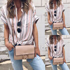 USA Stock Summer Womens Loose Pullover T Shirt Short Sleeve Tops Ladies Blouse