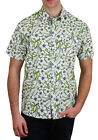 Alpha Beta Cotton Tropical Hawaiian Shirt Island Lime