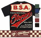 BSA SLOPER T SHIRT CLASSIC MOTORCYCLE BIKER RETRO BOBBER CHOPPER CLASSIC