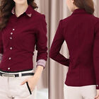 formal tops - EP_ Lot Womens Office Formal Collar Button Up Blouse OL T-Shirt Tops Clothes Goo