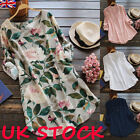UK Womens Summer Holiday Floral Loose Tops T Shirt Party Mini Dress Size 8-24